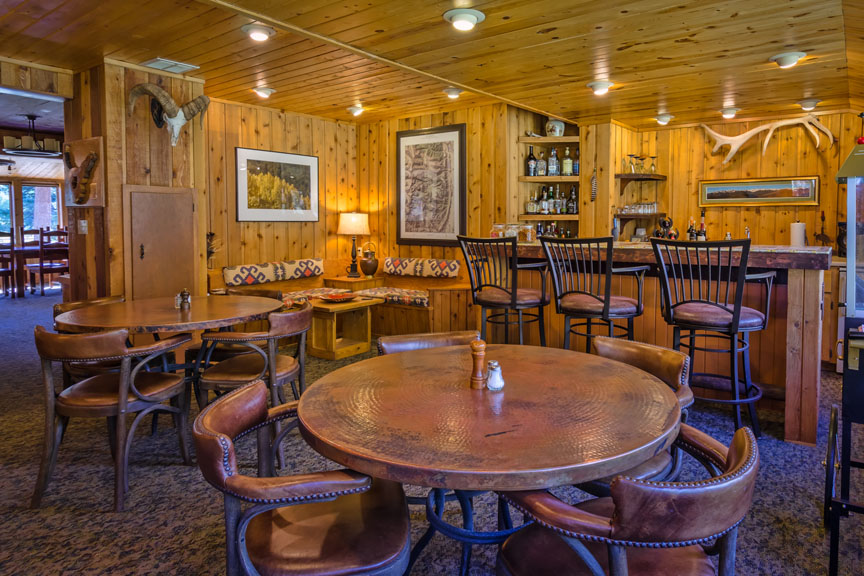 Bar area of the Lodge